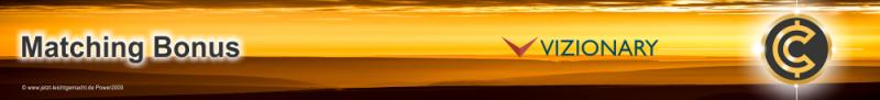 Der Banner Matching Bonus von Vizionary