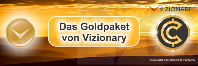 Was sind die Vorteile eines Goldpakets bei Vizionary?
