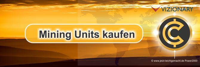 Mining Units bei Vizionary kaufen, Anleitung