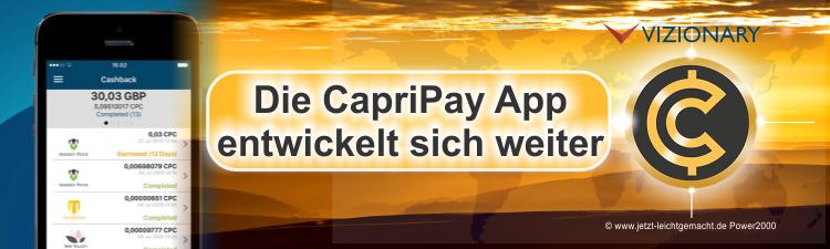 CapriPay App Weiterentwicklung