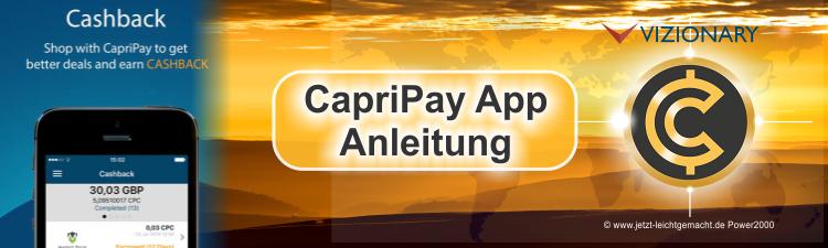 Capripay App Anleitung
