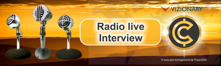 Vizionary Live im Radio