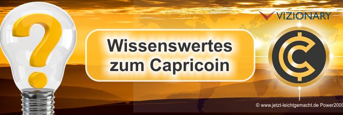 Das solltest Du über die Kryptowährung Capricoin, Capripay und Vizionary wissen