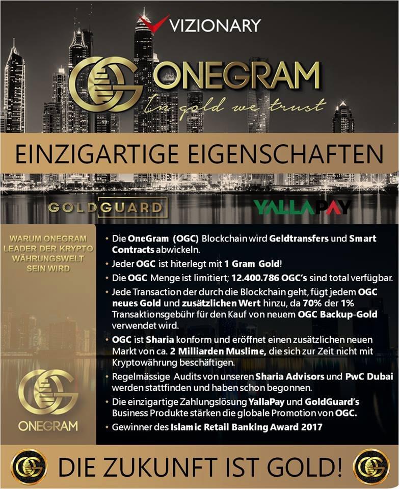 OneGram Vorteile