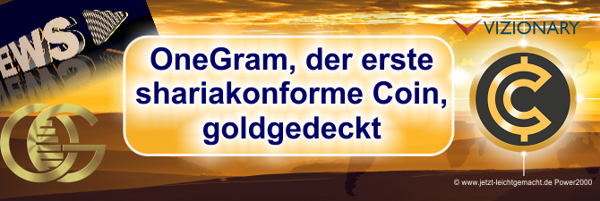 Shariakonform, die erste Kryptowährung die mit Gold hinterlegt ist – die Kryptosensation