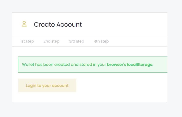 OneGram Wallet Account Bestätigung