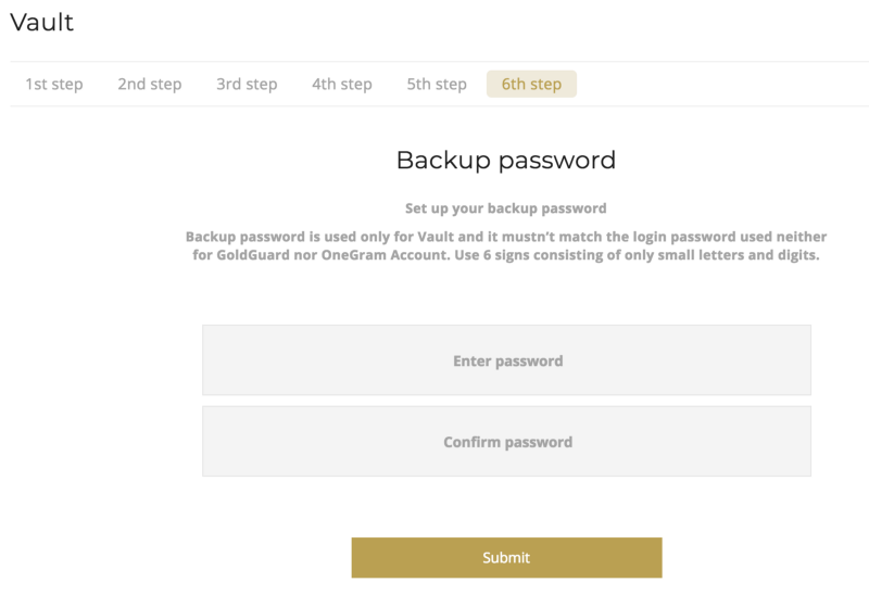 OneGram-Vault-Passwort-sichern