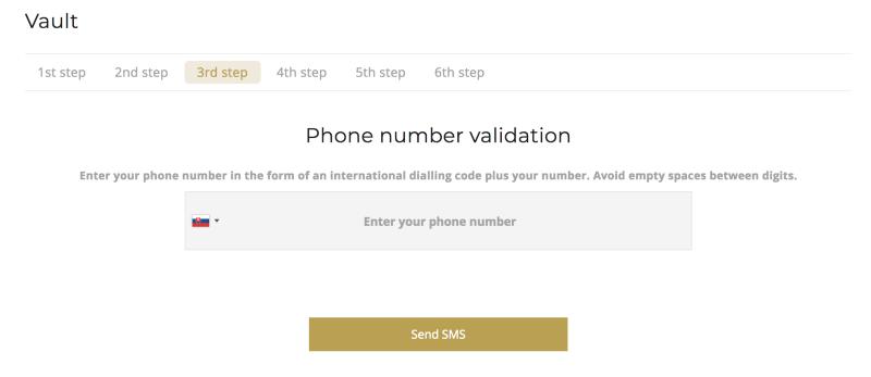 OneGram-Vault-Telefon-Bestätigung
