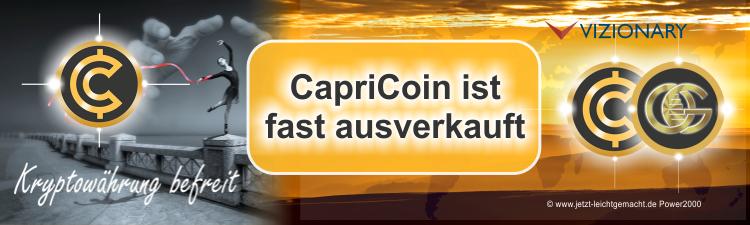 Capricoin fast ausverkauft