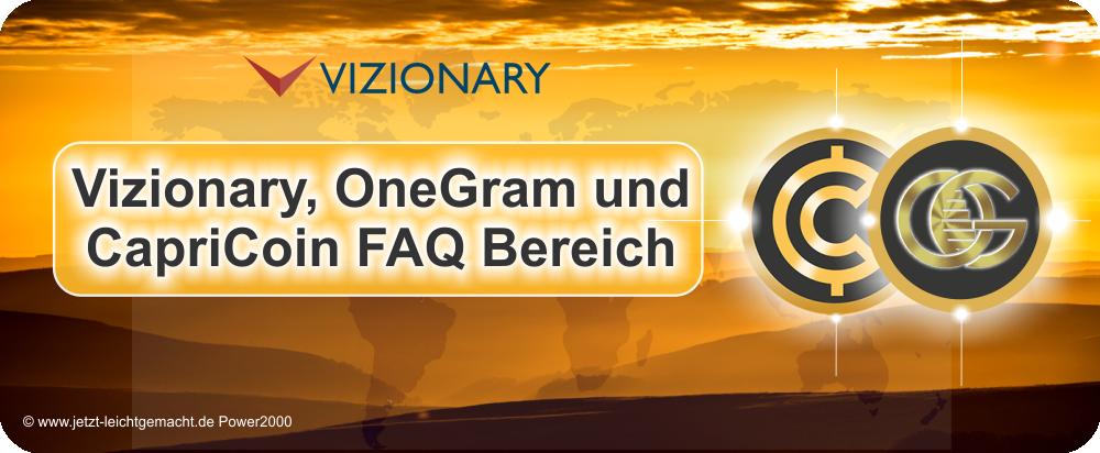 Vizionary - OneGram - Capricoin FAQ