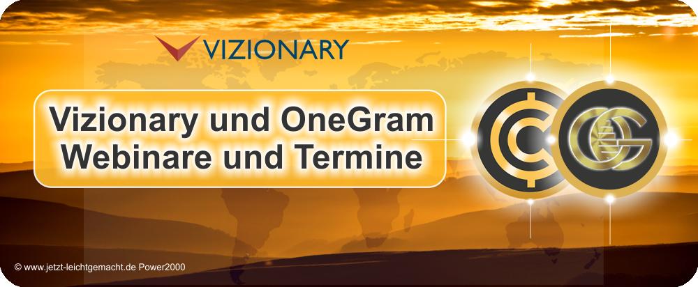 Vizionary und OneGram Webinare und Termine
