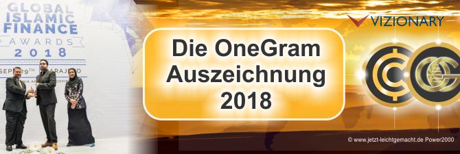 OneGram Auszeichnung 2018
