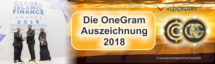 Die OneGram Auszeichnung 2018